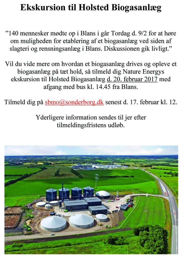 Ekskursion til Holsted Biogasanlæg